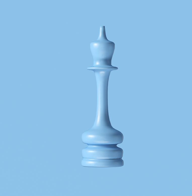 chess figure blue